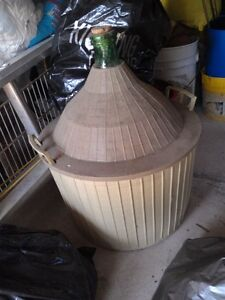 Demijohn - 15 Gallon (54 Liter) - with Plastic Basket