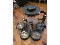 Bodum Glass Tea Infuser & 4 Cups Unused