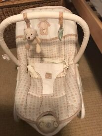 Mothercare vibrating musical baby chair