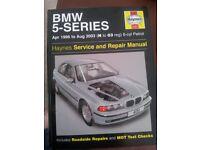 BMW Haynes Manual. (Series 5 ) 1996-2003 £3