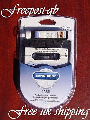 AUDIO CASSETTE HEAD CLEANER - WET OR DRY USE - TOP GRADE BANDRIDGE CARE