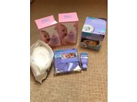 Breast pad, breastfeeding bundle, lansinoh hot cold breast therapy