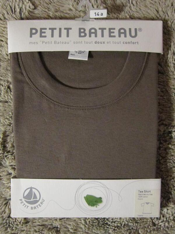 PETIT BATEAU BOYS/GIRLS SHORT SLEEVE TEE-SHIRT SZ 14A ~SZ  S~ MULOT~