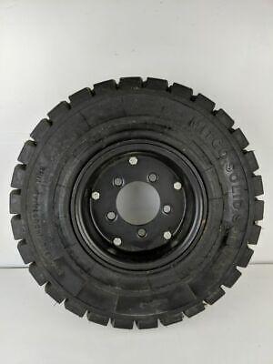 Mitco 5-lug Solid Solver Forklift Tire Rim 5.00-8 3.75 Mitchell Industrial