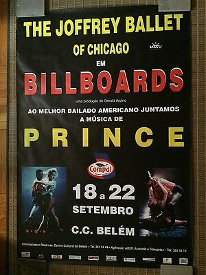 "JOFFREY BALLET ORIGINAL ""BILLBOARDS"" 1995 POSTER FORM LISBON MUSIC BY PRINCE"