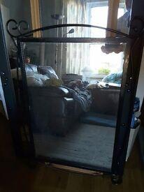 Black iron frame mirror - £25