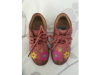 Gorgeous Girls Lelli Kelly Pink Suede Ankle Boots size 7