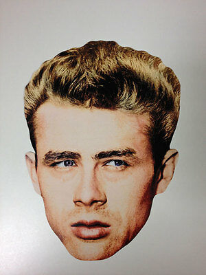 James Dean Single 2D Card Fun Face Mask - Great for Hollywood Themed Parties](Hollywood Themes For Parties)