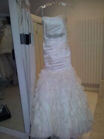 Eleganza sposa wedding dress by essense of australia size 8/10. With full length veil.