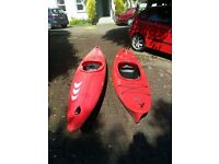 Prijon Tornado and Necky Sky kayaks for sale