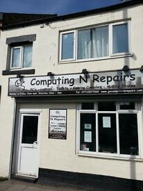 Computer Mobile Phone repair shop with 2 bedroom flat