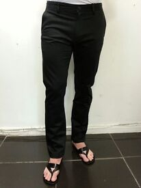 Black chinos pants trousers for men