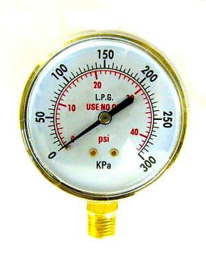 3 Inch Acetylenepropane Regulator Gauge Low Pressure 14-18npt