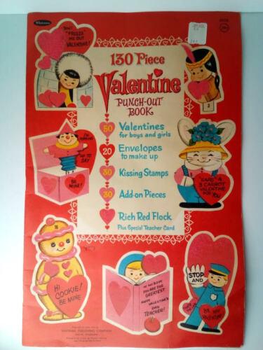 1960s Whitman 130 Piece Valentine Punch Out Book Vintage Antique 1965 1964 60s