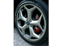 """LATEST FORD FOCUS ST 18"""" ALLOY WHEELS X4 BOXED 5X108 MONDEO CONNECT VAN C-MAX S-MAX BARGAIN"""