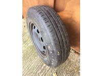 175x80x14 wheel and Tyre with lots of tread. Buyer collect only from Biddenden.