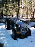 All original 49 ford tractor 9n snow plow!