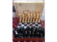 Studio Anne Carlton Gods of Mythology Hand Made Chess Set