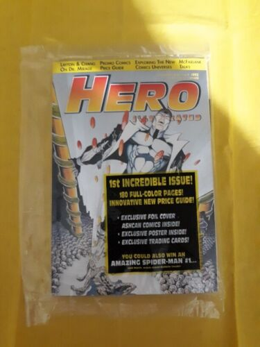 Hero Illustrated  # 1 July '93 Rare Platinum Foil Limited Edition Factory Sealed
