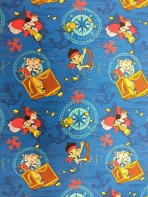 Jake And The Neverland Pirates Fabric (JAKE AND THE NEVERLAND PIRATES FABRIC FAT QUARTER 50 cm x 56 cm 100% COTTON)