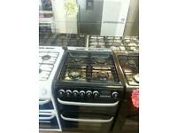 CANNON BLACK 60CM WIDE DOUBLE OVEN GAS COOKER WITH GLASS LID