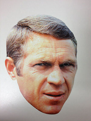 Steve McQueen Single 2D Card Fun Face Mask - Great for Hollywood Themed Parties](Hollywood Themes For Parties)