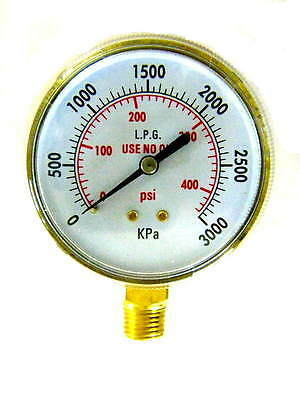 3 Inch Acetylenepropane Regulator Gauge High Pressure 14-18npt