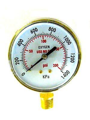 3 Inch Oxygen Regulator Gauge Low Pressure 14-18npt