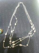 An 18ct White Gold three strand diamond set necklace Maitland Maitland Area Preview