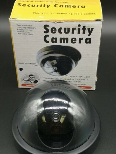 1 PC Dummy Dome Fake Security Camera CCTV Waterproof Flashing Red LED US Seller