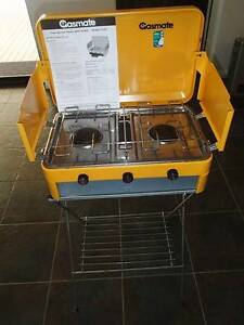 GASMATE 2 BURNER (WITH GRILL) Double LPG Gas Camping Camp Portab Wellard Kwinana Area Preview