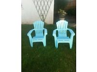 Turquoise Outdoor Seats