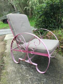 Art Deco Style Wrought Iron Outdoor Armchair vintage retro Glen Forrest Mundaring Area Preview