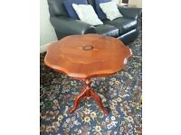 Decorative patented wood table
