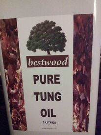 Tung Oil - 5 litre Tins