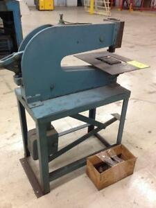 5 ton Roper Whitney Kick Press, with punches...