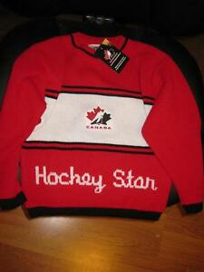 Children's Size 6X Team Canada Knitted Sweater BrandNEW-Licensed