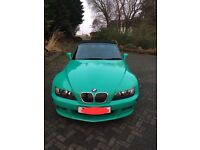 1999 BMW Z3 2.8 RARE INDIVIDUAL FIJI GREEN EDITION 36,800 MILES ONLY GOOD SERVICE HISTORY