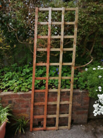 Rectangular wooden trellis. Used