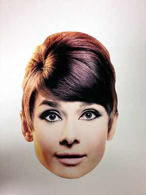 Audrey Hepburn Single 2D Card Fun Face Mask - Great for Hollywood Themed Parties](Hollywood Themes For Parties)