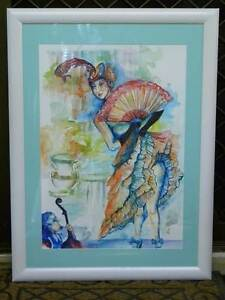 """Original Water Colour """" PETITE FILLE """" by Elisa Steel Reedy Creek Gold Coast South Preview"""