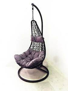 Outdoor Hammock Swing Chair Pod Hanging Stand Berwick Rattan Berwick Casey Area Preview