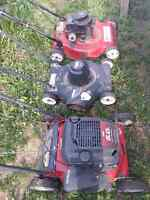 Electric mower  $40$     &  two  gas  mowers