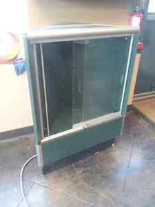 Lighted corner display cabinet