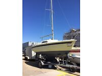 Jouet 18 foot sailing boat with trailer