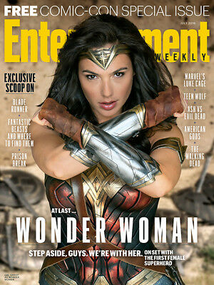 ENTERTAINMENT WEEKLY 2016 COMIC CON Special Issue Wonder Woman WW Gal Gadot
