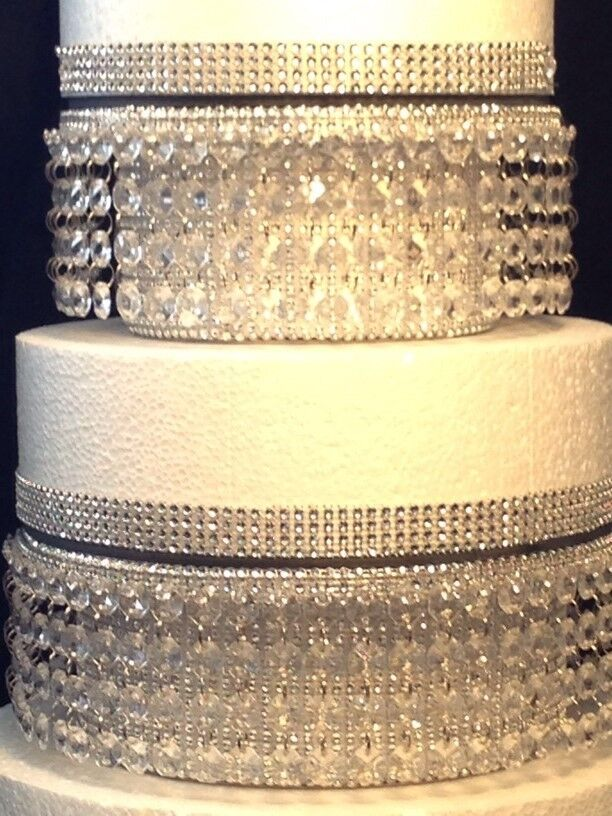 CRYSTAL DIAMANTE WEDDING cake stands Stacked tiers in round or ...