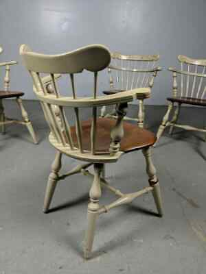 Set of (4) Ethan Allen Hitchcock Style Maple Comb Back Chairs, Windsor, Captain