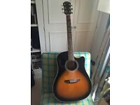 Electric-Acoustic Guitar with Case