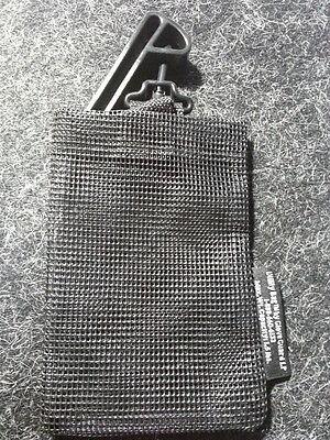 "Metal Detecting Treasure Finding BLACK UTLITY MESH BAG with BELT CLIP 5"" x 8"""